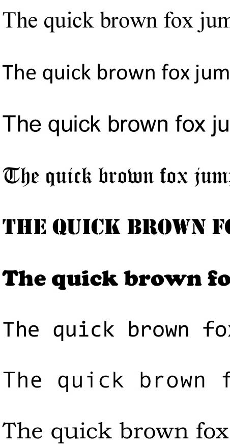 Quick Brown Fox, Visual Alphabet