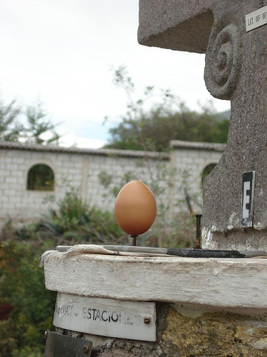 Science Experiment: Balancing an Egg on a Nail