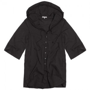 James Perse Button Coverup Hoodie